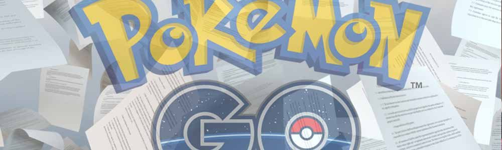 Loose documents covered by the pokemon go logo